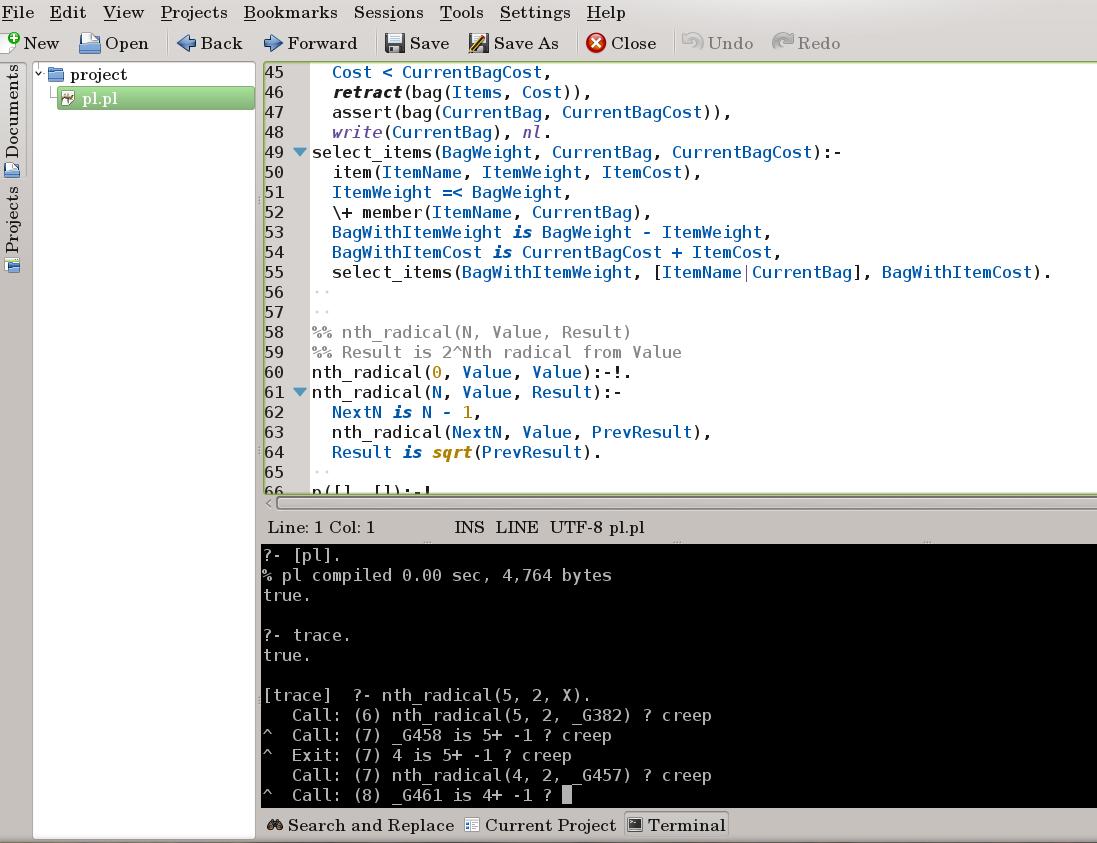 Использование kate в качестве IDE для Prolog