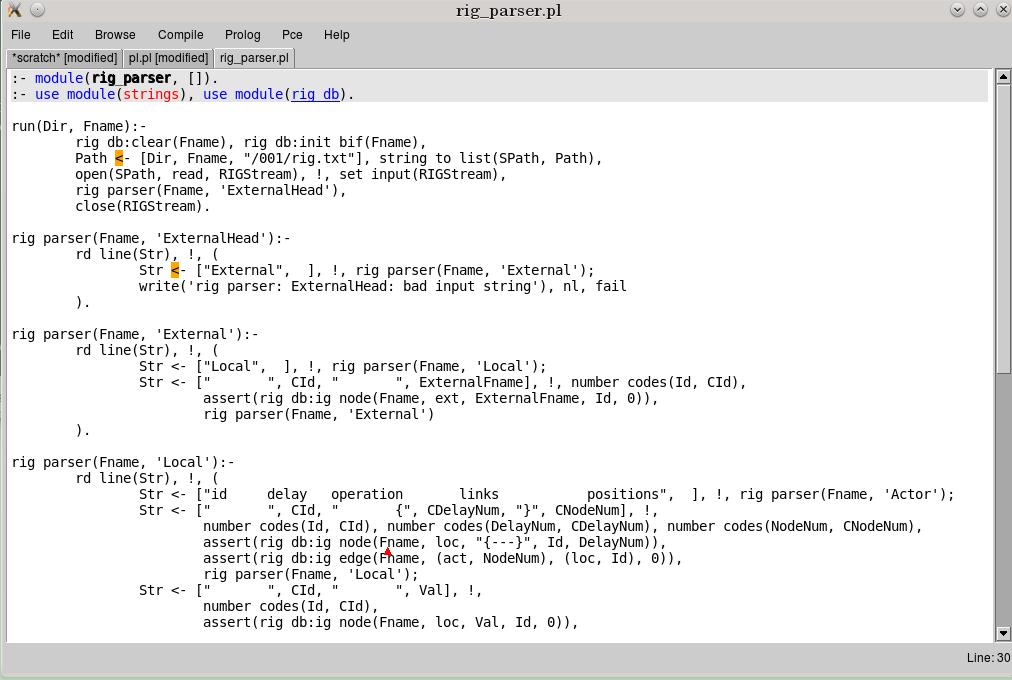 Загруженные программы в emacs